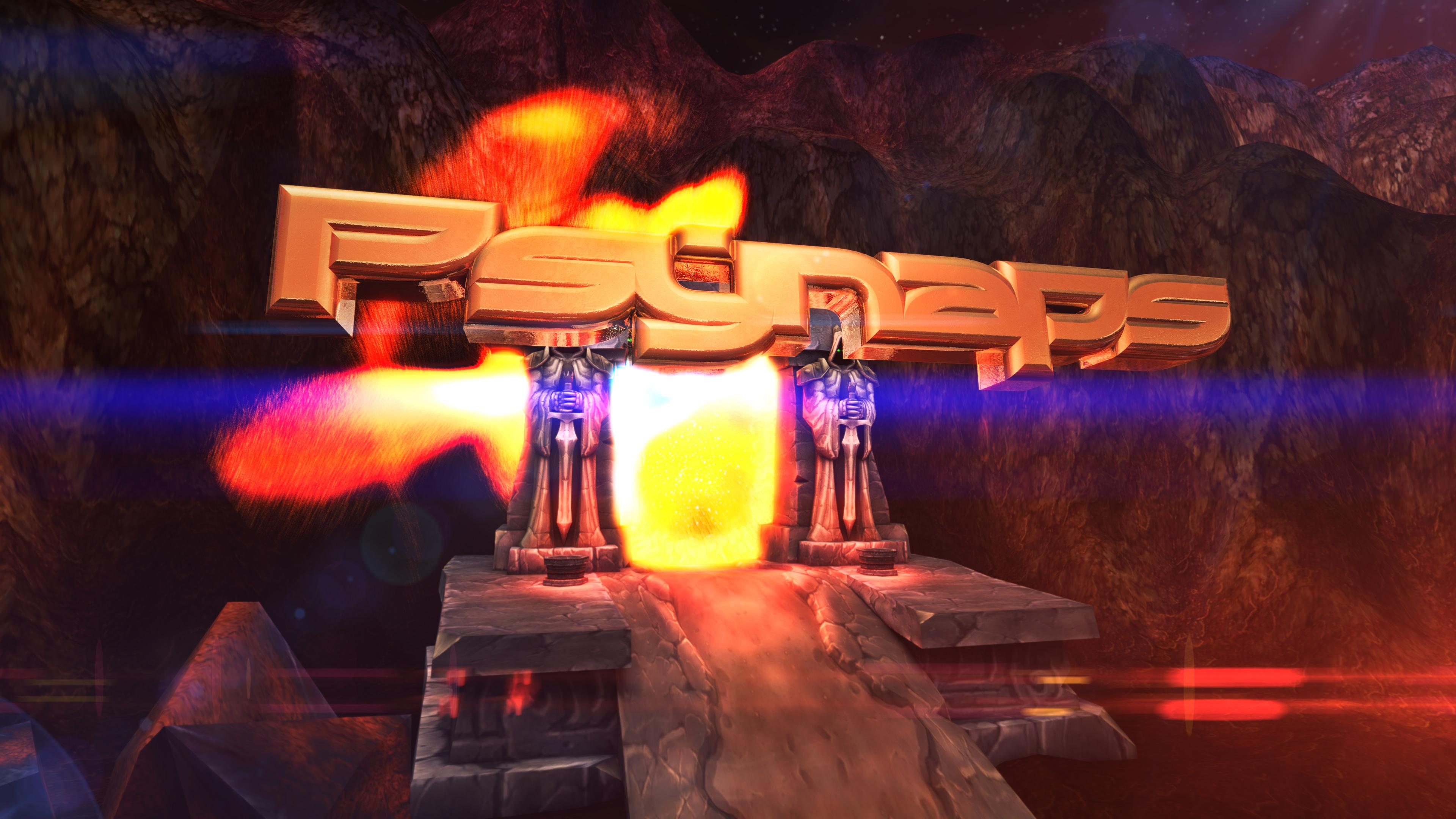 Custom Background Dark Portal 3d Character Name In 4k