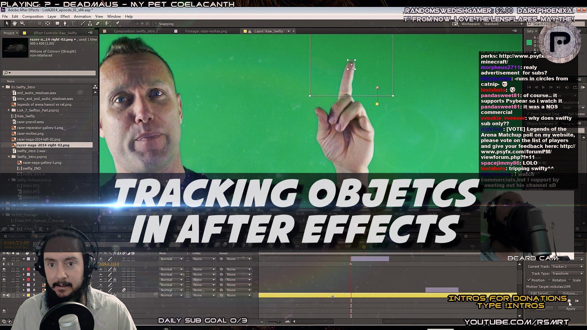 AE Motion Tracking – Razer Naga 2014 to Swifty's Finger