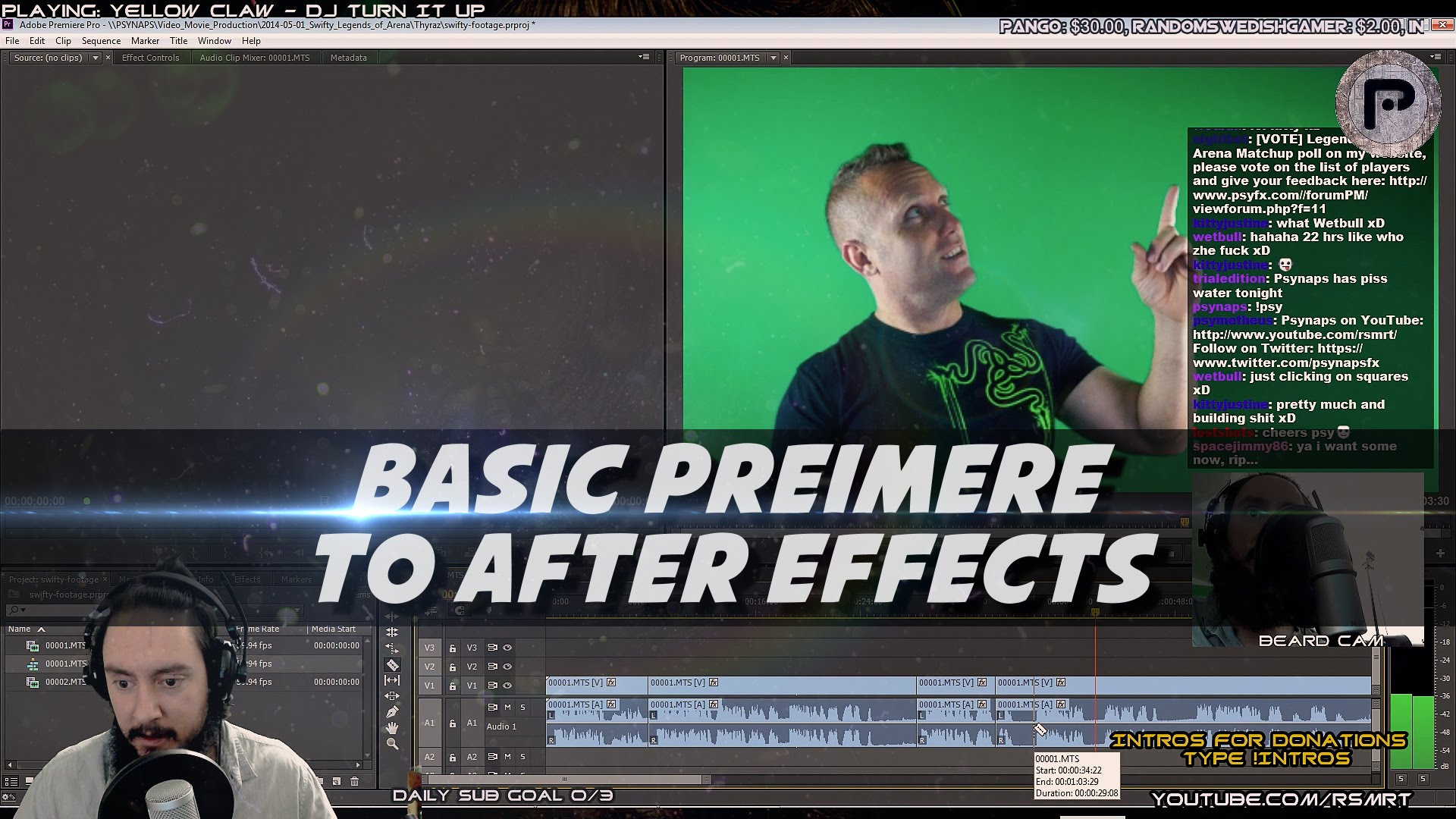 Basic Editing Tips Adobe Premiere to After Effects (ft. Swifty Green Screen Footage)