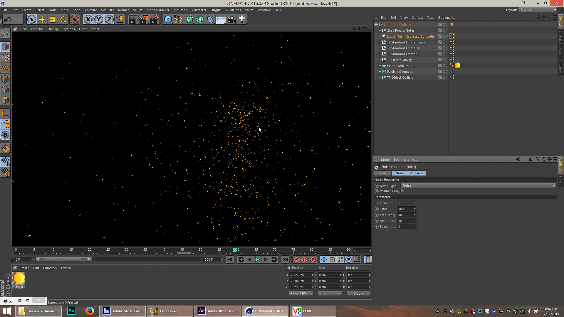 Fire Embers, Snow, and Particles in AE and C4D  [DOWNLOAD]