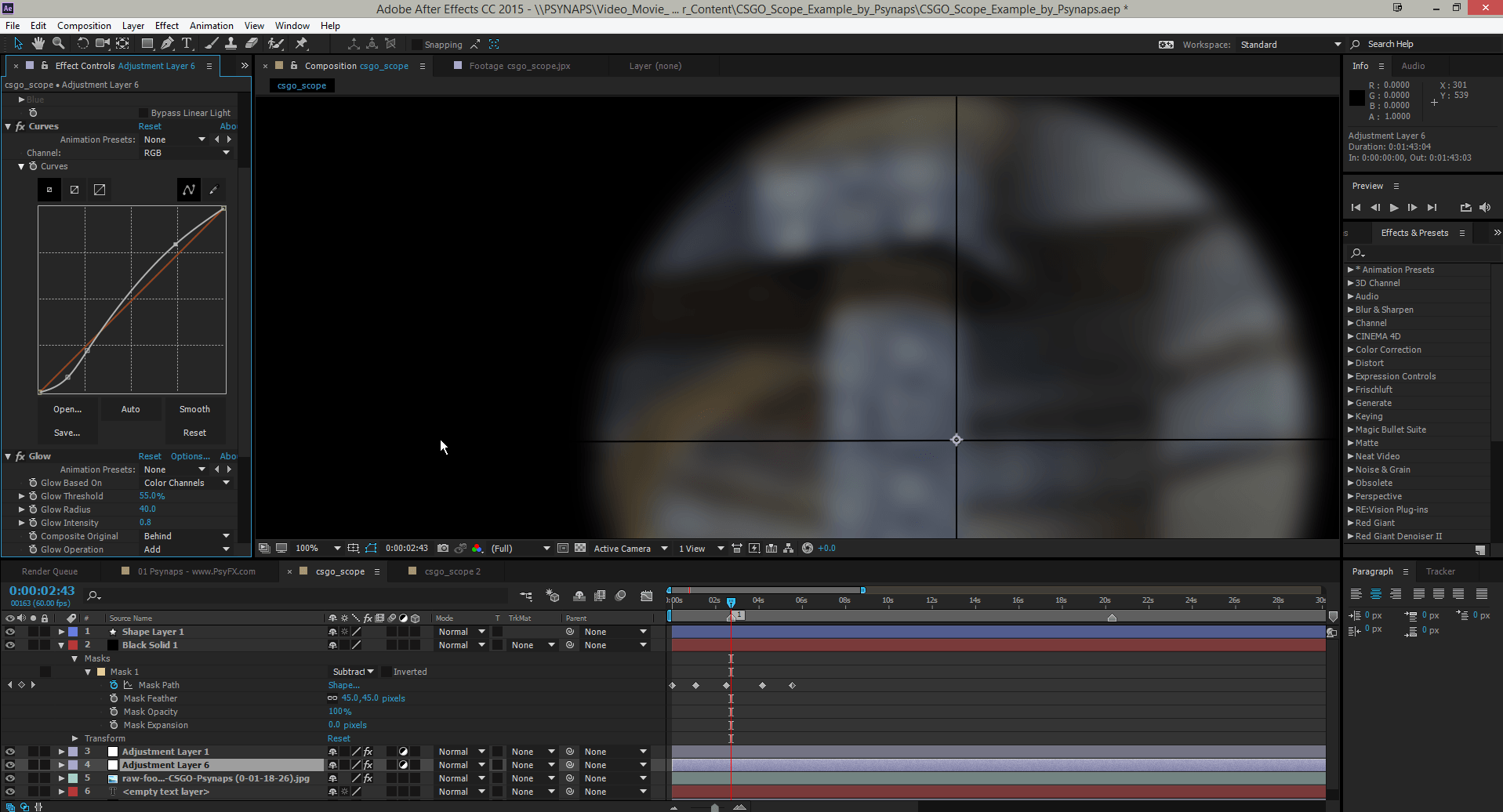 CSGO Scope Overlay: After Effects Project File Download