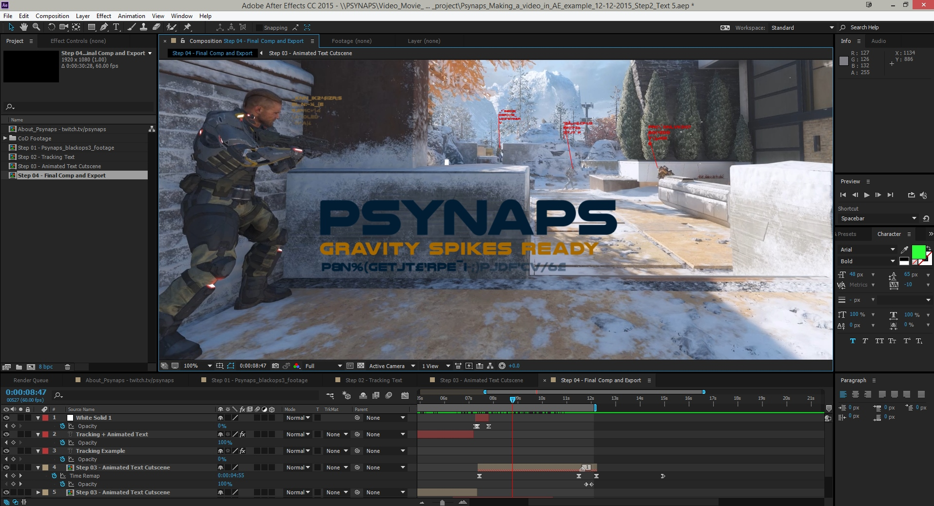Call of Duty Black Ops 3 – After Effects Project Download