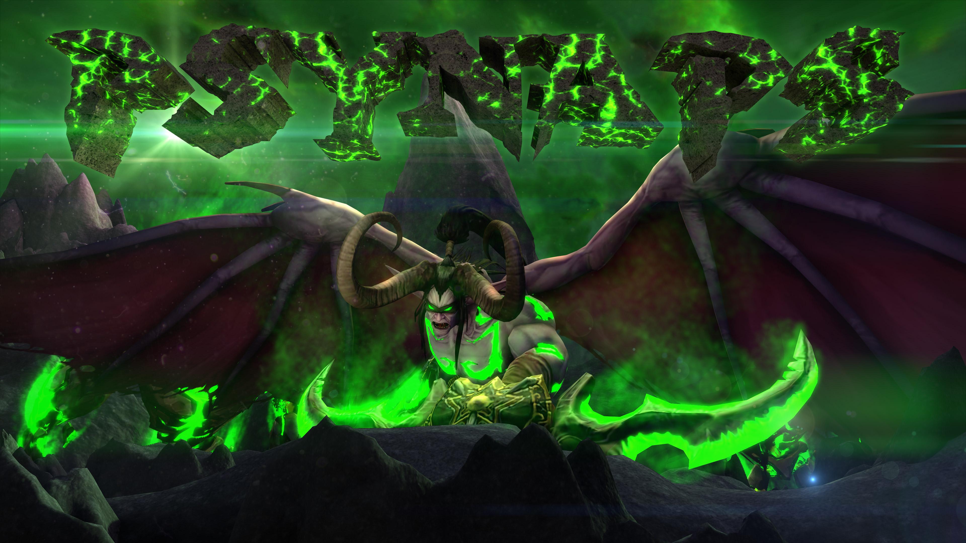 WoW Legion Illidan Custom Character 4K Wallpaper