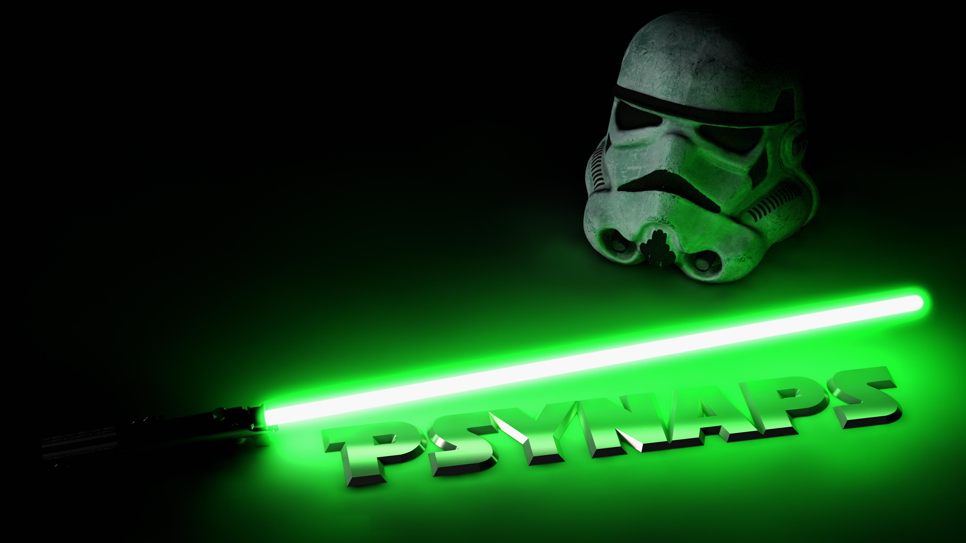 Star Wars Light Saber Storm Trooper 4k Custom Wallpaper