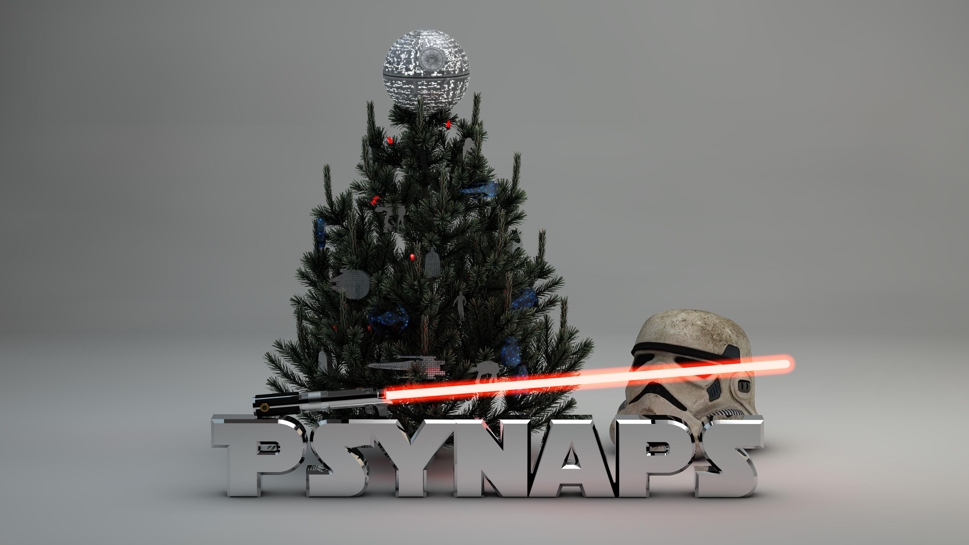 Star Wars Christmas Tree 4K Custom Wallpaper - Star Wars Christmas Tree Ornaments