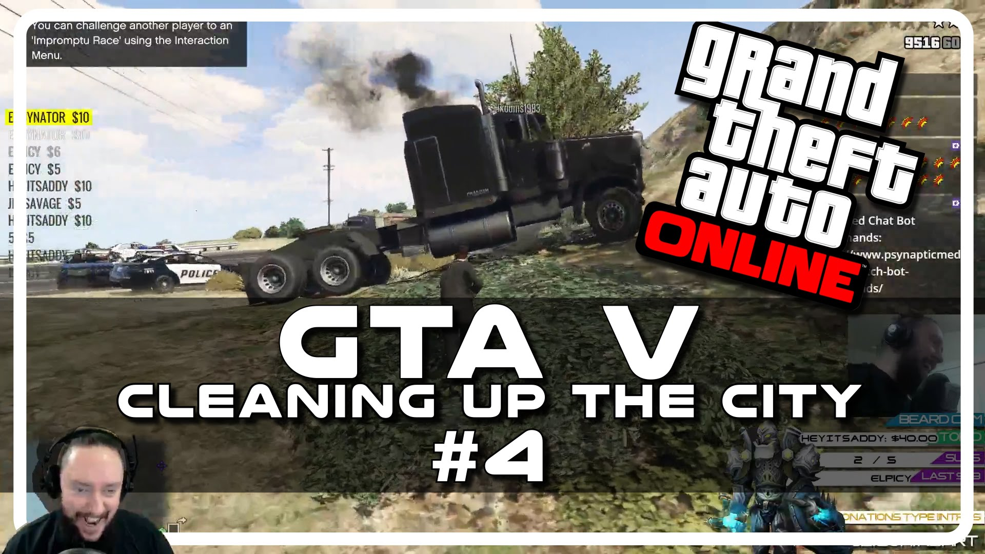GTA V – Cleaning up the City w Psynaps #4 (Online PC Gameplay Funny Moments)