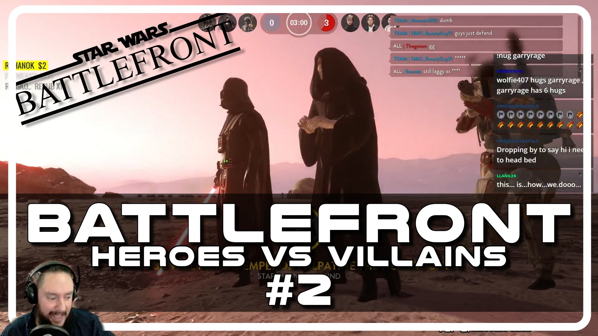 Star Wars Battlefront Heroes vs Villains with Psynaps #2 (Gameplay Funny Moments)
