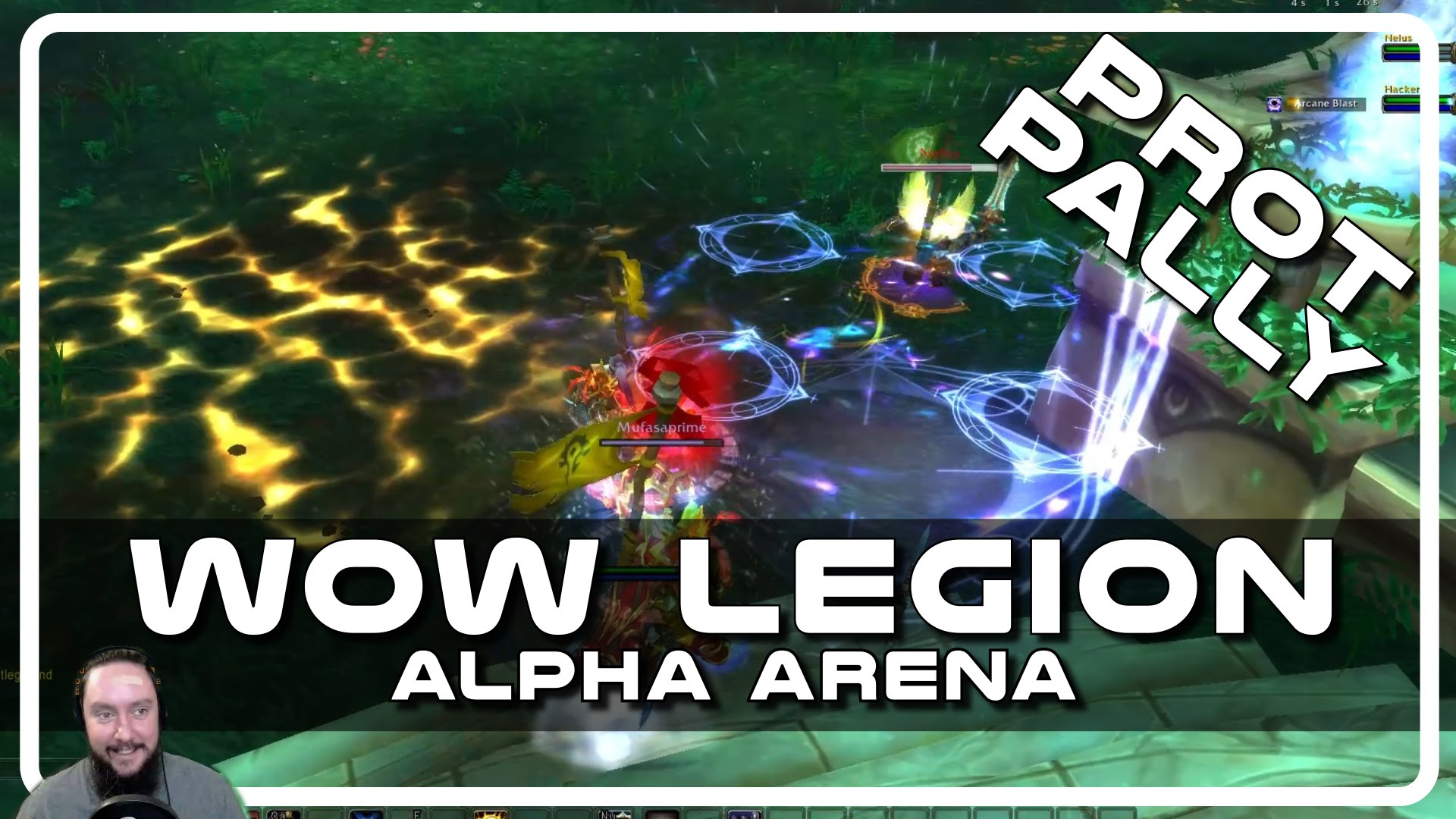 WoW Legion Alpha PvP – Prot Paladin Arena with Psynaps & MufasaPrime Deathknight #2 (PvP Gameplay)