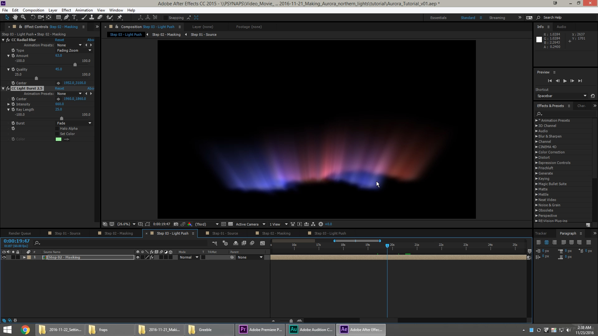 Create an Aurora (Northern Lights) in After Effects
